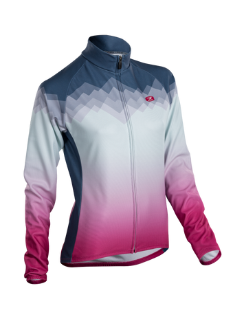 SUGOI Women's Evolution Long Sleeve (L/S) Jersey, Coal Blue/Sangria (U675500F)