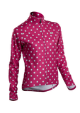 SUGOI Women's Evolution Long Sleeve Jersey, Sangria/Pale Vista Dot (U675500F)