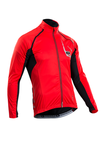 SUGOI Men's RS 120 Convertible Jersey, Chili red (U677500M)