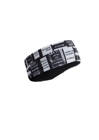 SUGOI Women's Fusion Headband, Black/Text (U927030F)