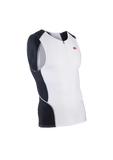 SUGOI Men's RPM Tri Tank, White / Black (20038U)