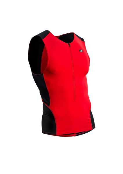SUGOI Men's RPM Tri Tank, Chili red (20038U)