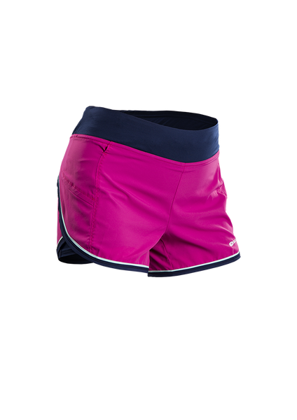SUGOI Women's Fusion 4 inch 2 in 1 Short - Raspberry Sorbet (30306F)