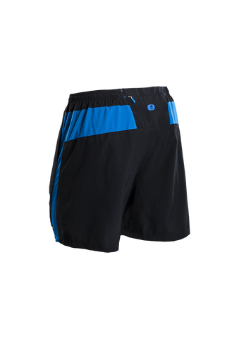 SUGOI Men's Pace 7 inch Short, Black Alt (30352U)
