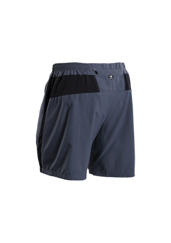 SUGOI Men's Pace 7 inch Short, Coal Blue Alt (30352U)