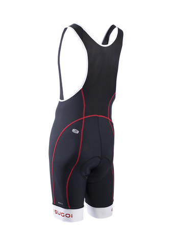 SUGOI Men's Evolution Pro Bib Short, Chili red Alt (39288U)