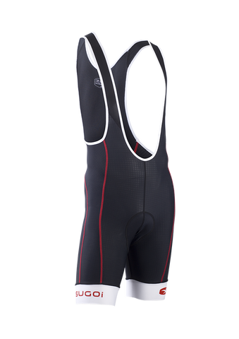 SUGOI Men's Evolution Pro Bib Short, Chili red (39288U)