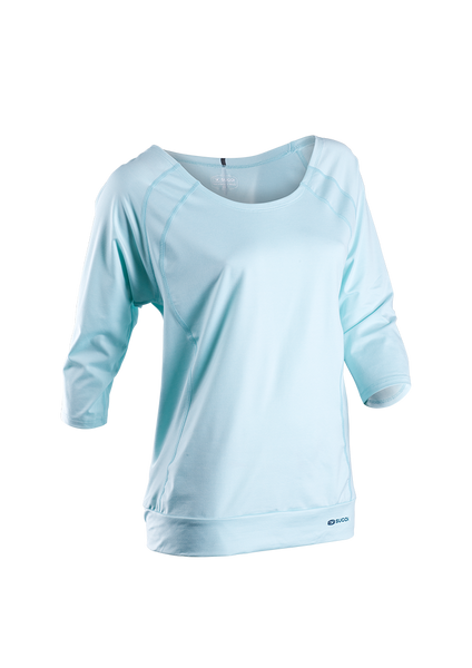 SUGOI Women's Verve 3/4 Sleeve - Ice Blue (50222F)