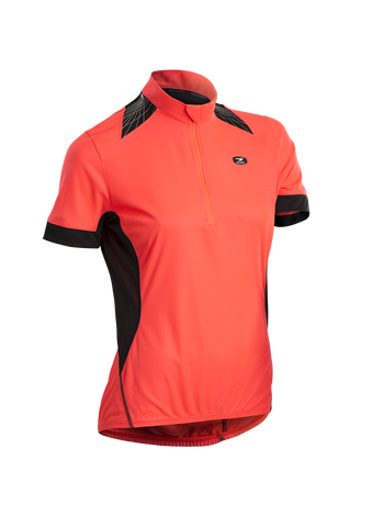 SUGOI Women's Neo Pro Jersey, Electric Salmon (57117F)