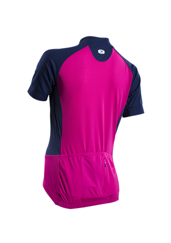 SUGOI Women's Evolution Ice Jersey, Raspberry Sorbet Alt (57774F)