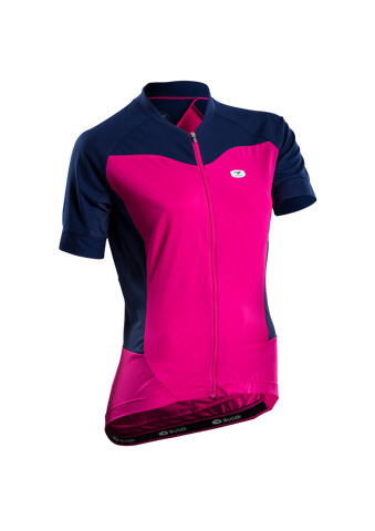 SUGOI Women's Evolution Ice Jersey, Raspberry Sorbet (57774F)