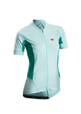 SUGOI Women's Evolution Ice Jersey, Ice Blue (57774F)