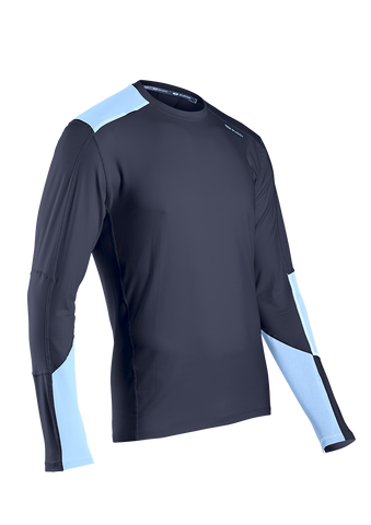SUGOI Men's Titan Core Long Sleeve (L/S), Coal Blue (60015U)
