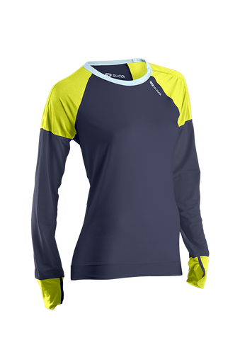 SUGOI Women's Ignite L/S - Coal Blue / Sulphur (60060F)