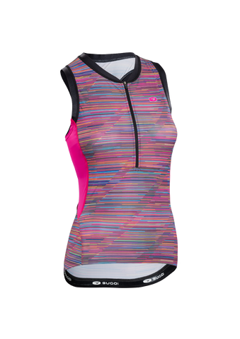 SUGOI Women's RS Tri Tank, Road Map Print (U201000F)