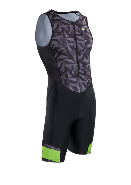 SUGOI Men's RPM Tri Suit, Black/Berzerker (U293020M)
