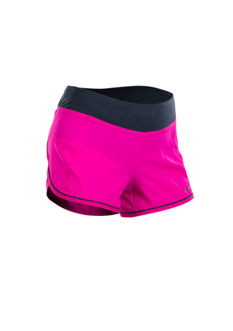 SUGOI Women's Fusion 4 inch Short, Full Fuchsia/Coal Blue (U300010F)