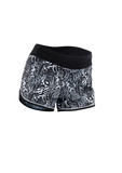 SUGOI Women's Fusion 4 inch Short, Black/WhiteFloral (U300020F)