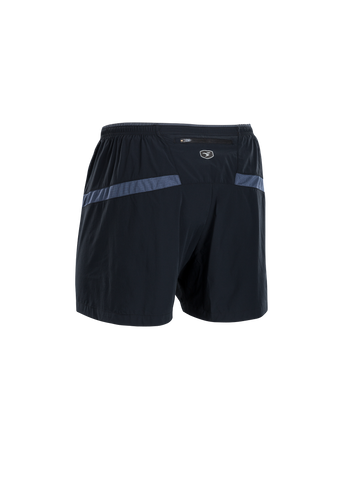 SUGOI Men's Titan 5 inch Short, Black/Coal Blue Alt (U300520M)