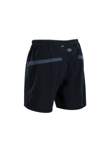 SUGOI Men's Titan 7 inch 2 in 1 Short, Black/Coal Blue Alt (U301020M)