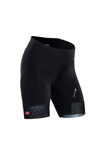 SUGOI Women's Evolution Short, Black/XO Print (U382020F)