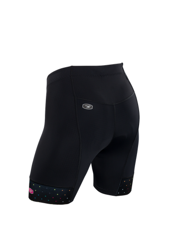 SUGOI Women's Evolution Short, Black/XO Print Alt (U382020F)
