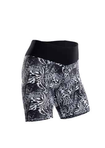 SUGOI Women's Sprint Short, Black/WhiteFloral (U384510F)
