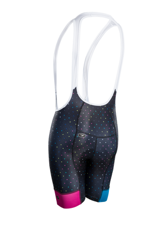 SUGOI Women's Evolution Bib Short, Black/XO Print Alt (U392010F)