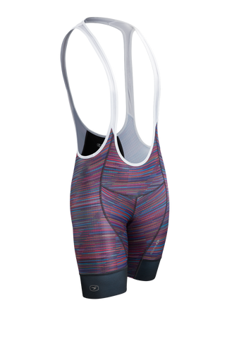 SUGOI Women's Evolution Bib Short, Road Map Print (U392010F)