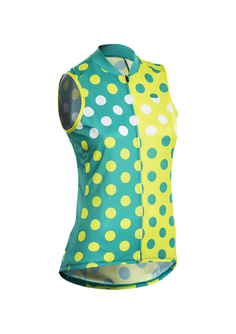 Women's Evolution Zap Sleeveless (S/L) Jersey - Jade Dot Print