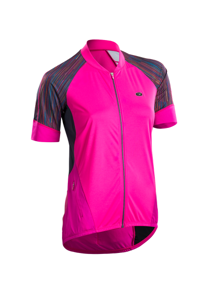 SUGOI Women's RS Century Zap Jersey, Road Map Print (U575500F)