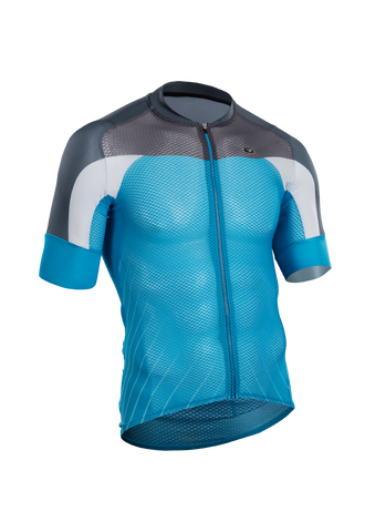 SUGOI Men's RS Climber`s Jersey, Glacier/Coal Blue (U575520M)