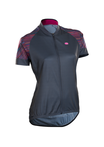 SUGOI Women's Evolution Zap Jersey, Road Map Print (U576010F)