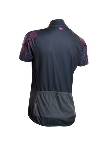 SUGOI Women's Evolution Zap Jersey, Road Map Print Alt (U576010F)