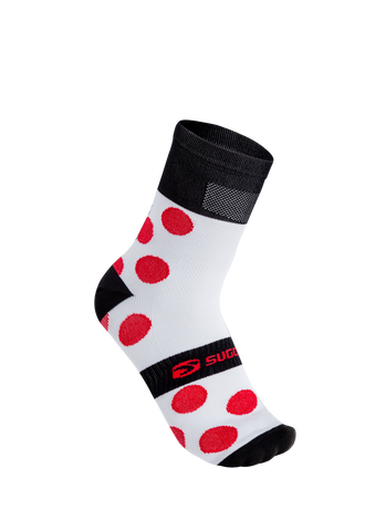 SUGOI RS Crew Sock Printed, Chili/Black/White (U941000U)