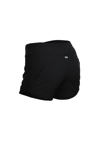 SUGOI Women's Fusion 4 inch 2 in 1 Short, Black Alt (U301060F)