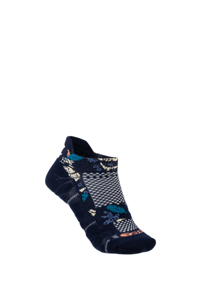 SUGOI RSR Tab Sock, Navy Monstera (U949860U)