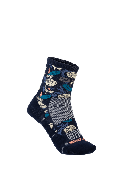 SUGOI RSR Quarter Sock Printed, Navy Monstera (U940520U)