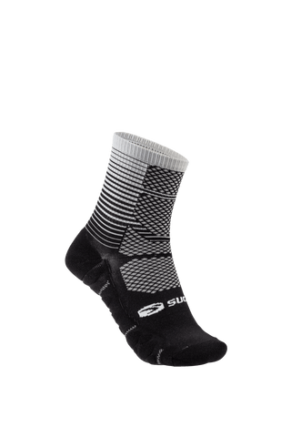 SUGOI RSR Quarter Sock Printed, Light Grey Gradient (U940520U)