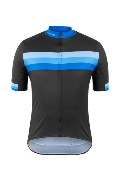 SUGOI  Evolution Zap Jersey, Blue Stripes (U576010M)