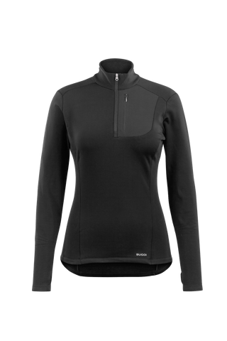 SUGOI Women's MidZero Zip, Black (U645040F)