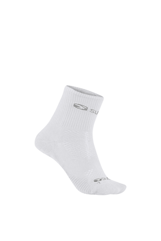 SUGOI RSR Quarter Socks, White (U940520U)