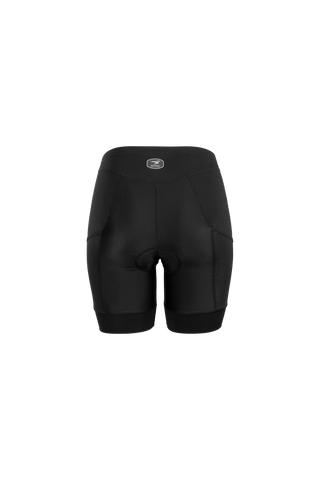 SUGOI Women's Piston 200 Tri Pkt Shorts, Black Alt (19074F)