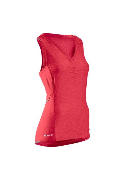 SUGOI Women's RPM Tank, Rose Red (12340F)