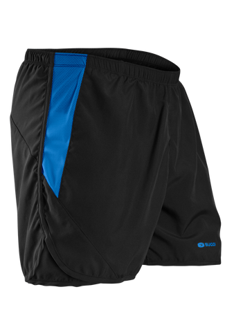 SUGOI Men's Titan Run Short, Black/True Blue (30341U)