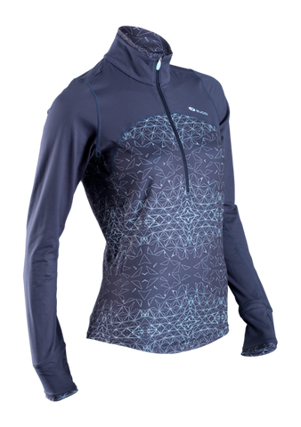 SUGOI Women's Fusion Core Zip, Ice Blue/Coal Blue (60036F)