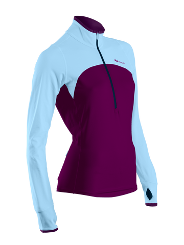 SUGOI Women's Fusion Core Zip, Boysenberry (60036F)