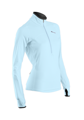 SUGOI Women's Fusion Core Zip, Ice Blue (60036F)