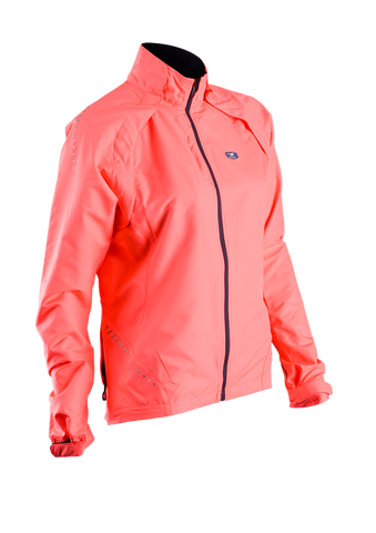 SUGOI Women's Versa Bike Jacket, Electric Salmon (70775F)