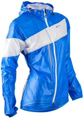 SUGOI Women's Run For Cover Jacket, True Blue/ White (71201F)